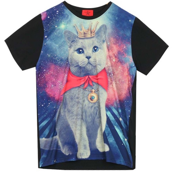 shirt clothes cats galaxy print prince