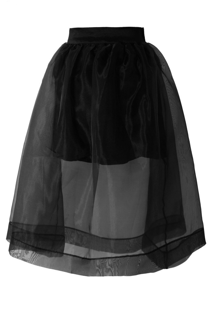 Limited edition organza tulle skirt
