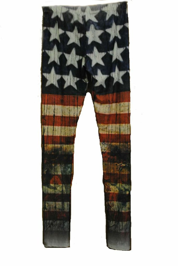 Distressed Flag Leggings | Affordable Junior Clothing & Plus Sized Dresses | Shimmer