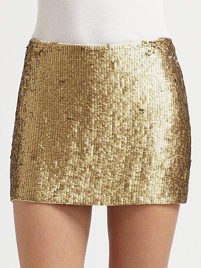 Hippie - Textured Sequin Mini Skirt - Saks.com