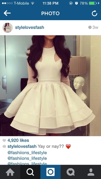 dress white dress fit and flare dress