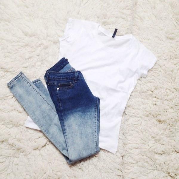 jeans t-shirt acid wash acid wash jeans