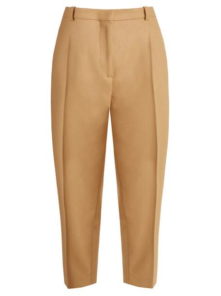 Acne Studios cropped wool camel pants