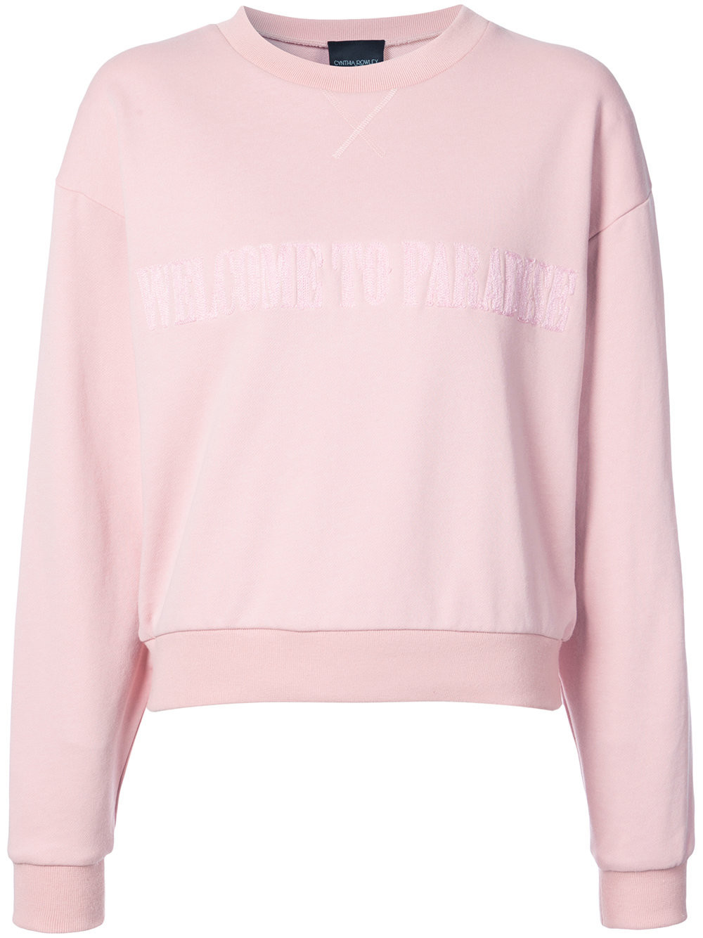 39557a1282a9aa Cynthia Rowley Paradise crewneck sweatshirt - Pink & Purple