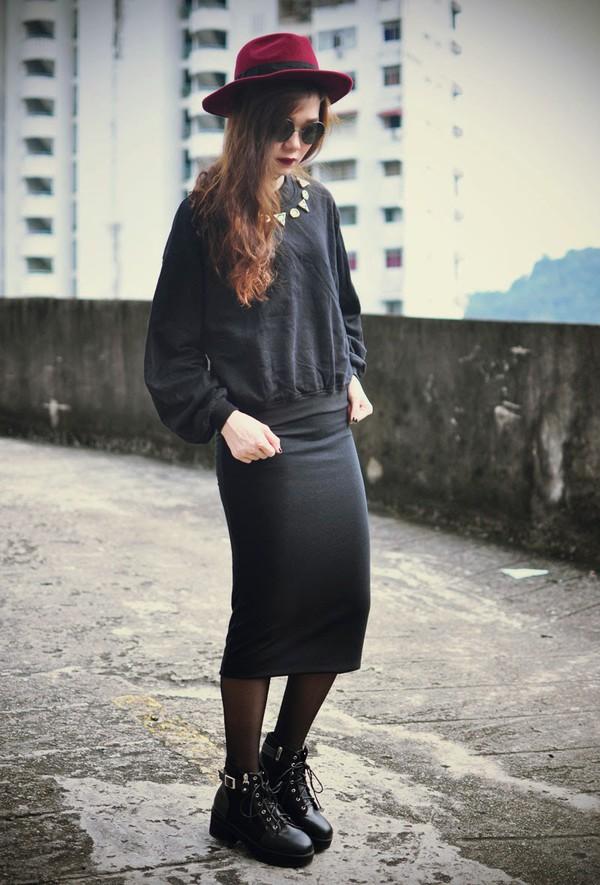 skirt skirt top hipster stylemoi punk