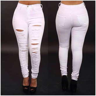 jeans white jeans high waisted jeans