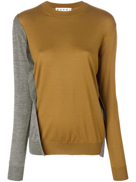 MARNI jumper women wool yellow orange sweater