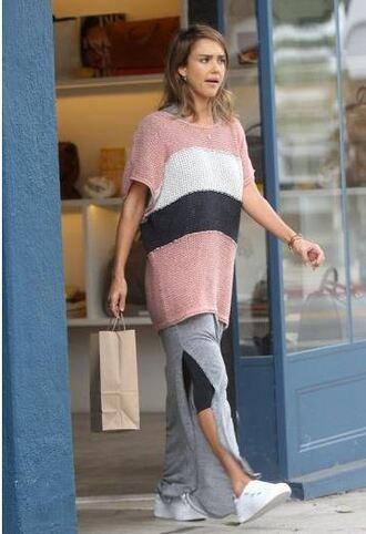 dress grey jessica alba sweater maxi dress