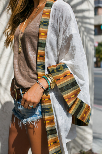 cardigan sweater clothes multicolor warm cute kimono aztec