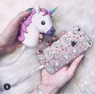 phone cover unicorn pink purple phone charger pastel