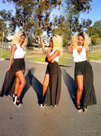 shorts black dressy evening outfits dress skorts fashion casual chiffon