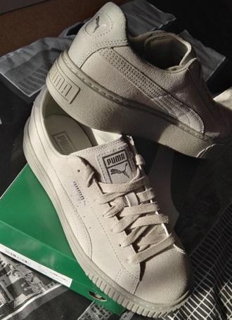 shoes puma puma sneakers puma x rihanna puma creepers grey grey sneakers plateu tumb;r tumblr creepers sneakers
