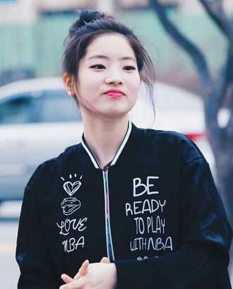 jacket korean celebrities celebrity nba twice