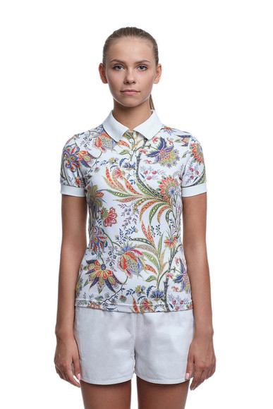 t-shirt polo print sportswear print clothing fusion_clothing print girly polo tee girl girl's polo shirt floral
