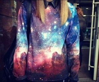 awesom galaxy print cool grunge sweater tumblr clothes awesomness