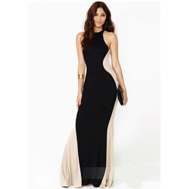 Women's Lovely Black Long Dress - 181071706