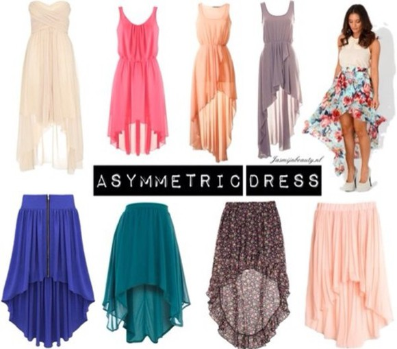 skirt asymmetrical dress summer spring asymmetrical skirt asymetric skirt asymetric colour summer dress colourful