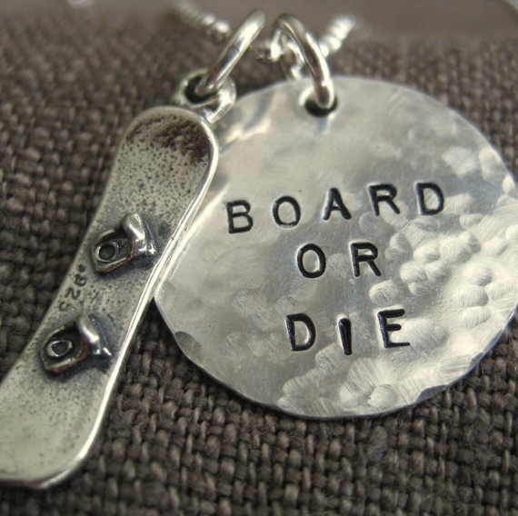 Gifts for Him  Gift for Snowboarder  Hand stamped door LifeIsRosey