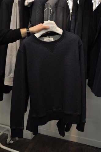 sweater jumper black sweater black grey sweatshirt