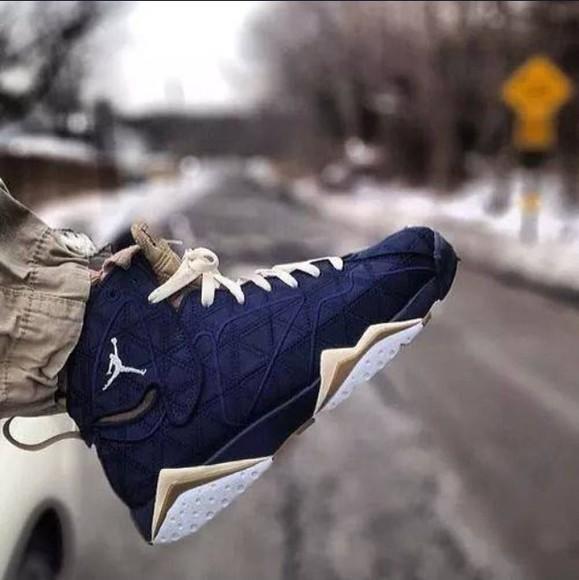 shoes blue shoes jordan's sneakers jordans gold