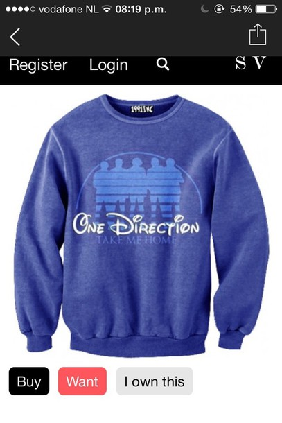 sweater one direction take me home disney jumper