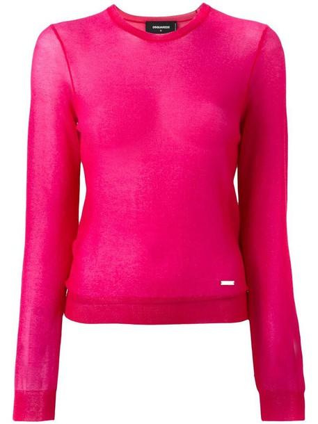 Dsquared2 jumper glitter women purple pink sweater
