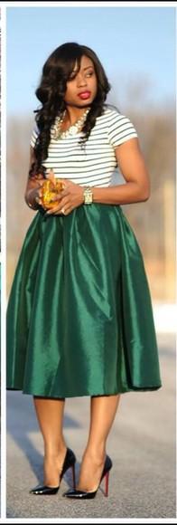 skirt midi skirt high waisted skirt