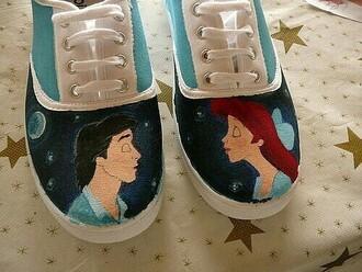 shoes disney the little mermaid hand painted vans
