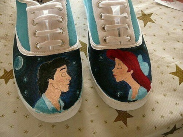 shoes the little mermaid hand painted disney vans 96ffeb940