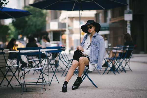 ordinary people blogger skirt bag shoes jacket