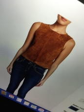 top,sleeveless suede,cropped sleeveless,suede sleeveless,brown suede,nordstrom,suede top