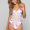 Frankie's bikinis poppy one piece in floral/stripe | ishine365