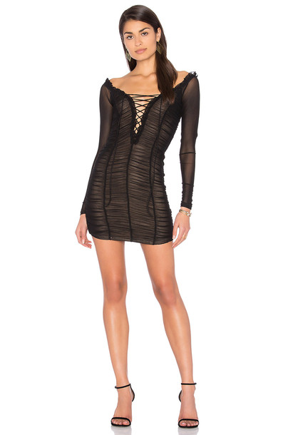 MAJORELLE dress black