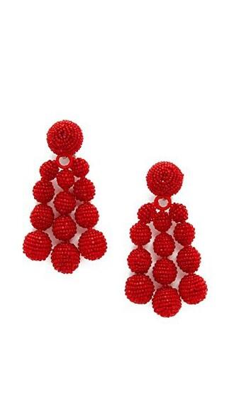 earrings cherry red jewels