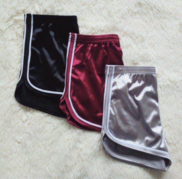 Shorts Satin Shorts Girly Tumblr Satin Short Shorts