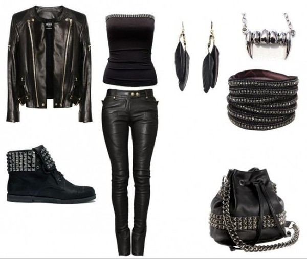 bag purse black top black clothes leather jacket black crop top hobo bag pants shoes top jewels