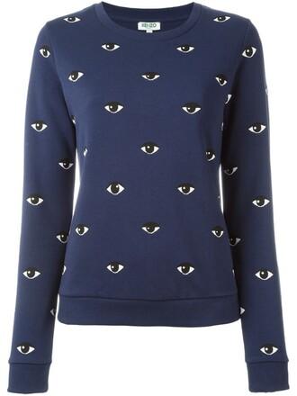 sweatshirt eyes blue sweater