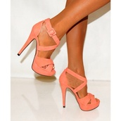 shoes,summer,coral,heels