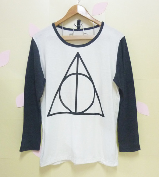 shirt round circle graphictee longsleeved crewnecks thinshirt womentshirts mentshirts offwhiteshirts harrypottershirts