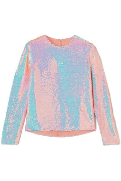Ashish top silk blush