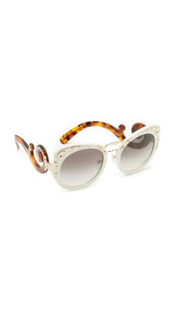 Prada embellished sunglasses grey