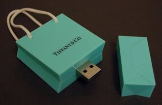 home accessory tiffany e co. sachet bag sickbag tiffany usb flash drive technology