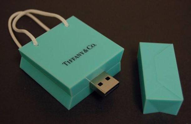 home accessory tiffany e co. sachet bag sickbag tiffany usb flash drive technology