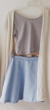 skirt,blue,high waisted,short
