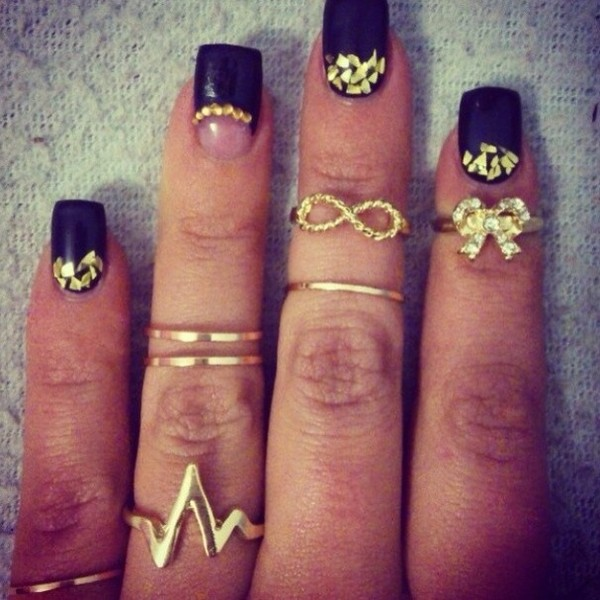 jewels knuckle ring nails