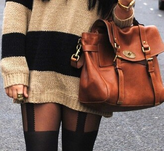 sweater tights brown purse bag pants cute leather bag brown leather bag brown brown bag purse