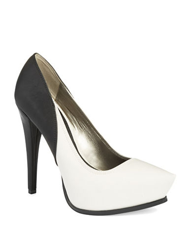Shoes | Women's Shoes | Jaelyn Colorblocked Platform Stilettos | Lord and Taylor