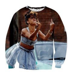 Online Shop Free shipping new 2013 Rihanna 3D print iswag sweater hoodie top woman|Aliexpress Mobile
