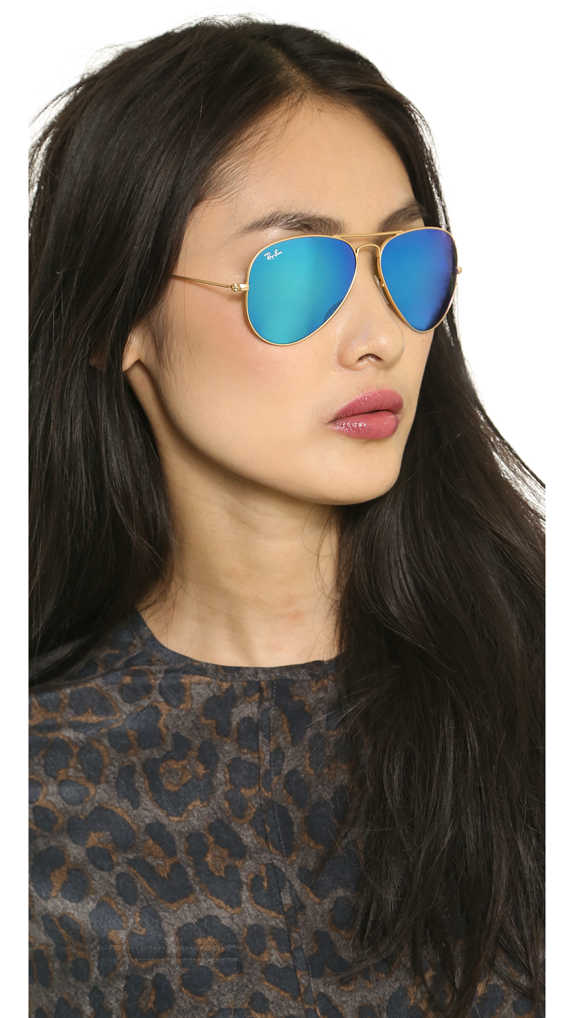 Ray-Ban Mirrored Matte Classic Aviator Sunglasses | SHOPBOP