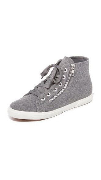 high pearl sneakers high top sneakers wool grey shoes